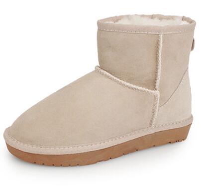 Botas de nieve de estilo europeo para damas hombres 854 de tubo bajo de invierno antideslizantes botas cortas de algodón plana multicolor opcional DANTU