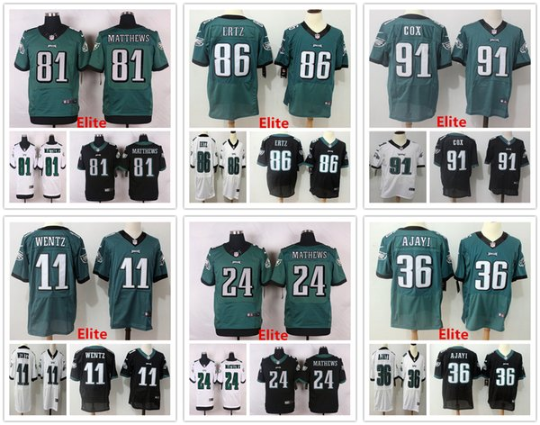 new style dde9d 29a71 2018 Mens Philadelphia Elite Eagles Jersey 11 Carson Wentz 24 Ryan Mathews  36 Brian Westbrook 81 Terrell Owens 86 Zach Ertz 91 Fletcher Cox Elite From  ...