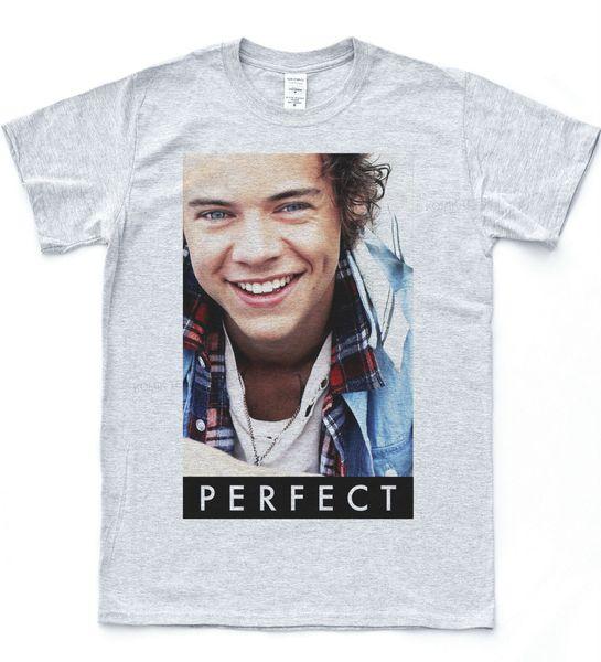 1D Harry Styles Perfeito Camiseta Nial Indie Música Directioner Tee Hipster Top Legal orgulho Casual t shirt homens Unisex Nova Moda