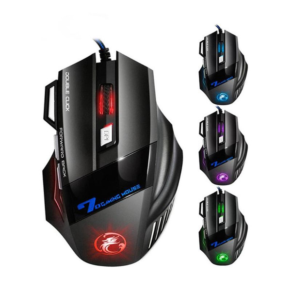 Game Mouse Professional Wired Gaming Mouse 7 Button 2400 DPI LED Optical USB Computer Gamer Mice X7 Game Mice