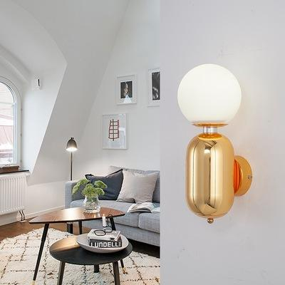 Modern LED Wall Light Black/Gold/White Indoor Lighting for Restaurant Living Room Bedroom Corridor Round Glass led Ball wall lamps
