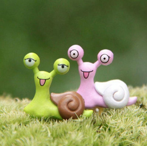 New diy Fairy Garden snail Toys Mini Snails Micro Potted Landscape mini Bonsai Accessories Ornaments Figurine Decor