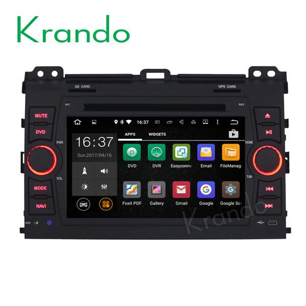 "Krando 7"" Android 8.0 car dvd navigation entertainment system for toyota prado 2002-2009 audio radio gps dvd palyer WIFI 3G DAB+"
