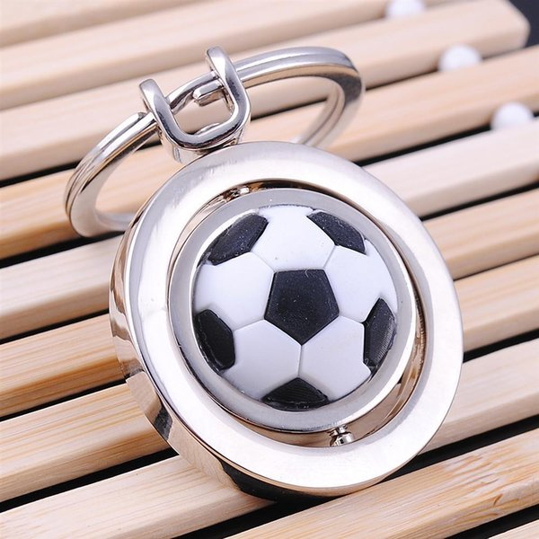 top popular Metal Keychain Football Key chain New High Quality Soccer Shoes and Football Car Key Ring Gift Keychain for World Cup 2020