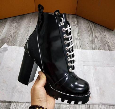2018 hot selling new autumn winter luxury brand fashion female motorcycle boots Martin ankle boots high heels antiskid boots size 35~42