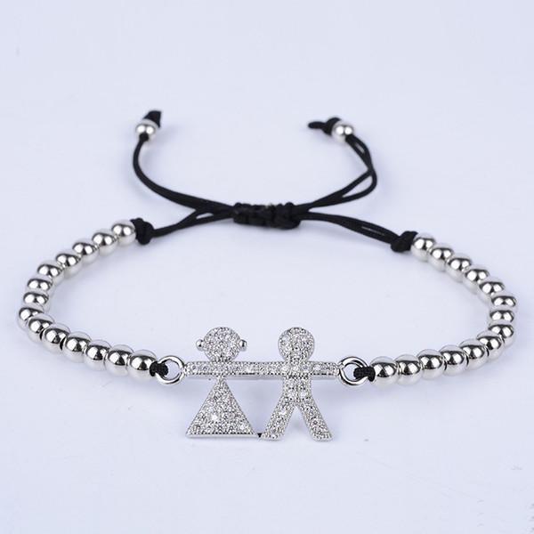 2018 New Designer Bracelet 4mm Round Beads Fashion CZ Boy Girl Style Braiding Bracelets Charm Bracelets Jewelry Luxury Gift