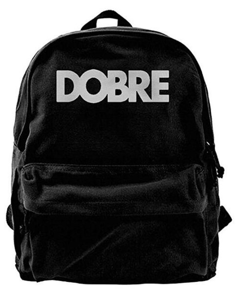 Dobre Logo Particular Men & Women Canvas Shoulder Bag Backpack Sports, Travel backpack Black