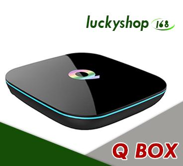 Q-Box Android 6.0 Amlogic s905X Streaming Media Player [2GB/16GB/4K] Quad Core Speed Android TV Box 30pcs DHL