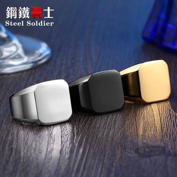drop доставка мужчины уникальный высокой полированной печаткой твердые кольцо мода нержавеющей стали 316L байкер ювелирные изделия