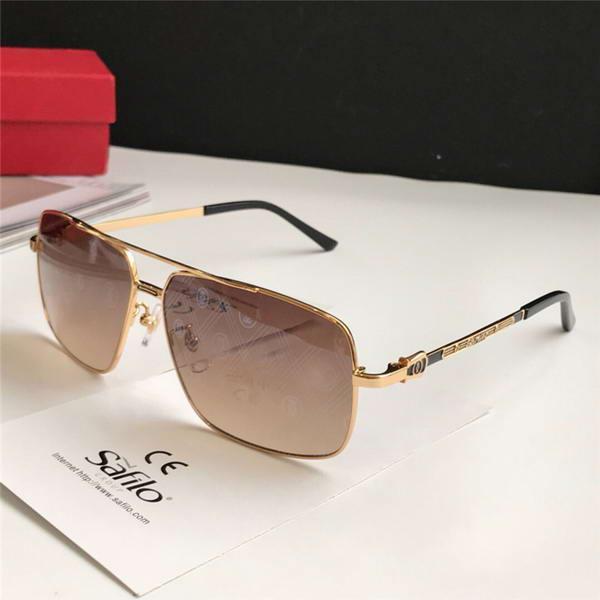 Classic Square Pilot Gold/Brown Sunglasses Santo Sonnenbrille men Luxury Designer Sunglasses Glasses Shades New with box