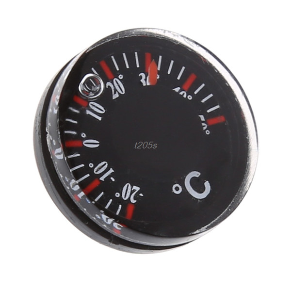 Diamètre 20mm Thermomètre en plastique Thermographe circulaire extérieur Celsius Indoor Testeur d'humidité Testeur Outils Q01 Dropship