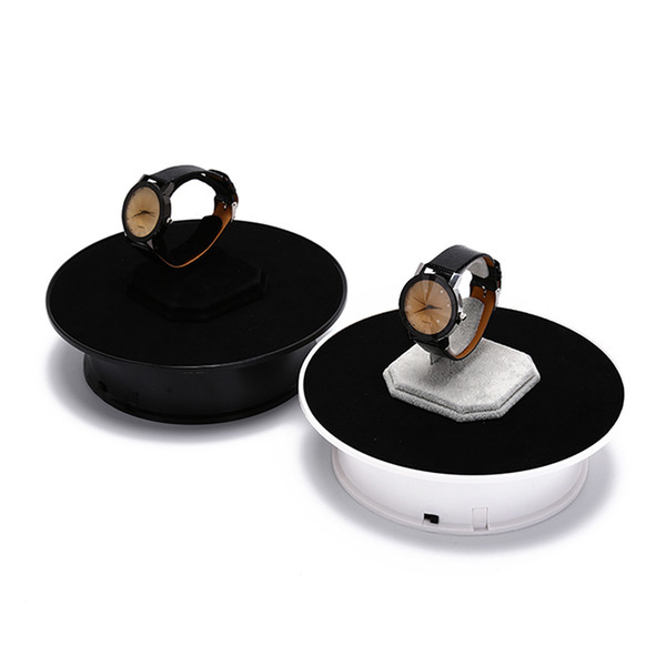 New 360 Degree Rotating Turntable Jewelry Display Stand Turntable Battery For Photography Video Shooting Props