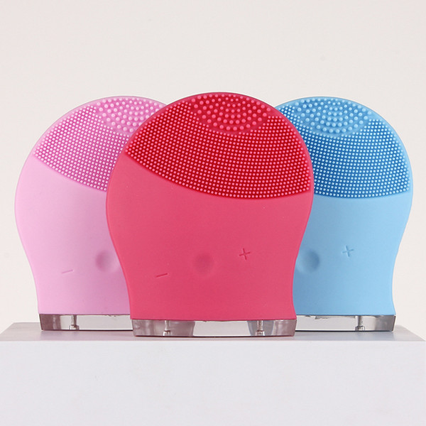 Face Electric Silicone Waterproof Cleansing Brush Facial Massage Cleanser Vibrate Pore Clean Facial Vibration Skin Care Spa 3 Colors
