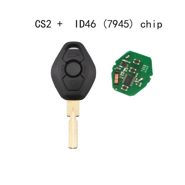 1PC Car Remote Key DIY for CAS 3/5/6/7 Series X3 X5 Z3 Z4 Z8 with Chip Keyless Entry Transmitter HU58 Blade