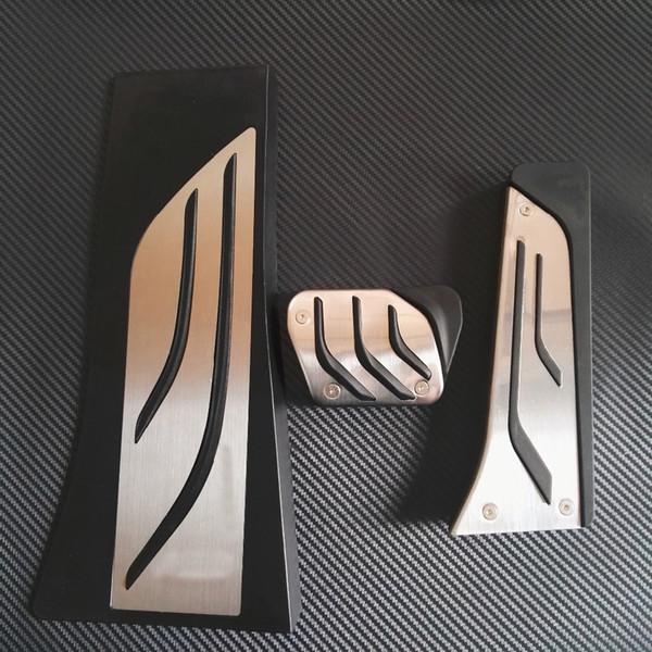 TTCR-II Stainless Steel Accelerator Gas Brake Footrest Pedal Pad For BMW X5 X6 F15 F16 E70 E71 E72 M 2008-2013 AT LHD