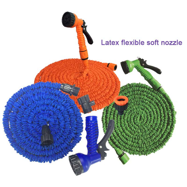best selling Latex 25 50 75 100 125 150 Financial Times with spray nozzle expansion flexible hose garden decoration car bathroom faucet bathroom accessor