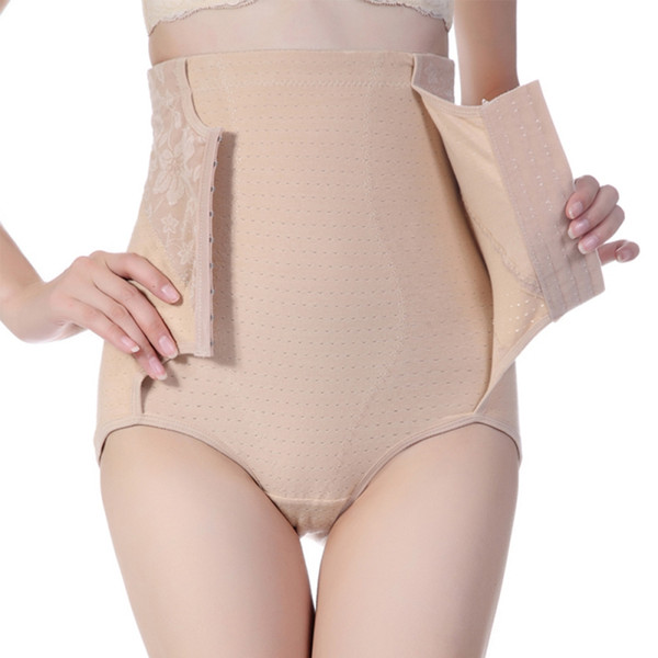 2017 New Breathable Cotton Waist Abdomen Pants Hip Shaping Body Pants 3XL cinta modeladora underwear women faja reductora mujer