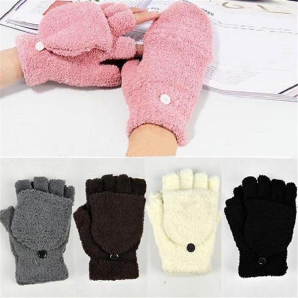 5 Cores Hot Moda Feminina Ladies Mão Wrist Warmer Inverno Luvas Sem Dedos