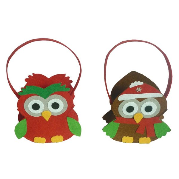 1Pc Owl Non-woven Fabric Bag Candy Bags Halloween Christmas Party Supplies Party Decoration for Children DIY Gifts