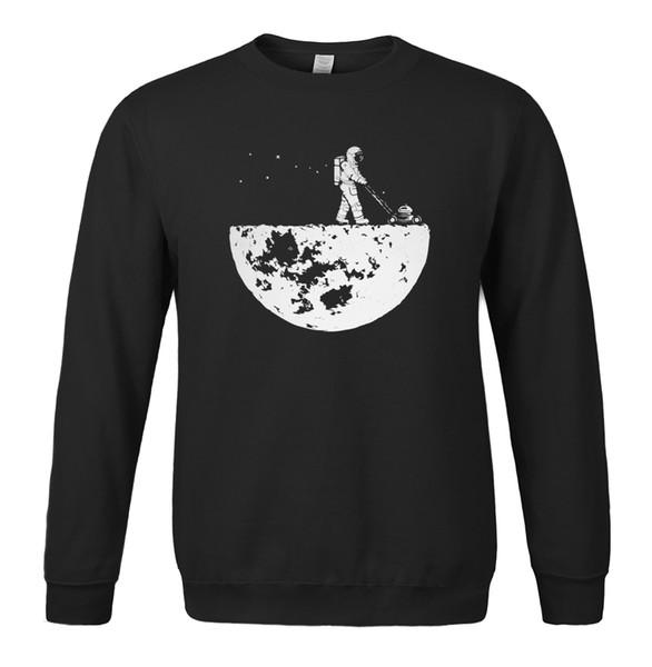 Wholesale- Hot sale 2017 men sweatshirts autumn winter fleece print HanHent Develop The Moon fashion casual men's sportswear hoody harajuku