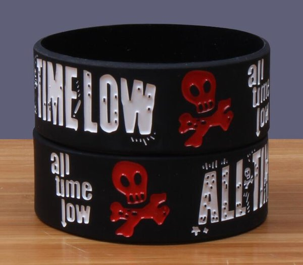 NEW ALL TIME LOW RUBBER BRACELET WRISTBAND UNISEX MEN WHITE SOUVENIRS DAY