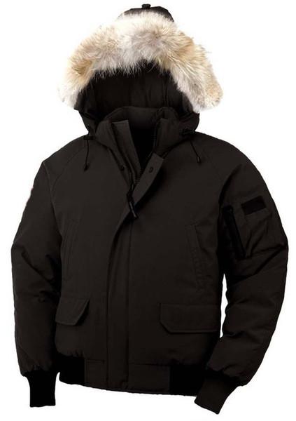 Piumino in piumino d'oca uomo PBI Collo in pelliccia di procione con cappuccio Completo da sci caldo imbottito invernale Piumino d'oca
