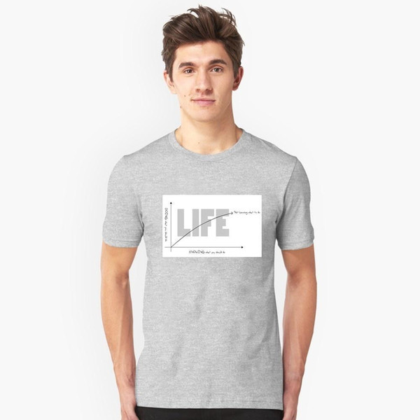 Life Chart Large size men's casual short-sleeved comfortable breathable sweat-absorbent cotton digital figure print home men and women
