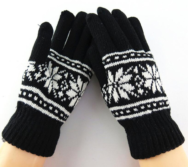 Autumn and winter women's thicken thermal warm snow knitted gloves female wool knitted winter mittens gloves