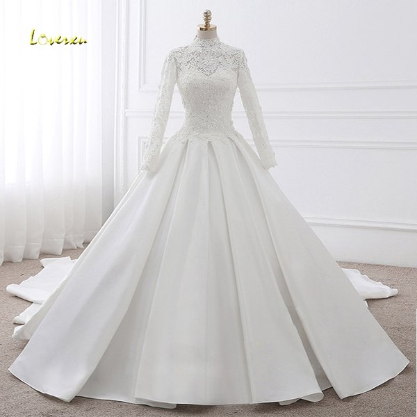 Discount Loverxu Vestido De Noiva Long Sleeve Vintage Wedding ...