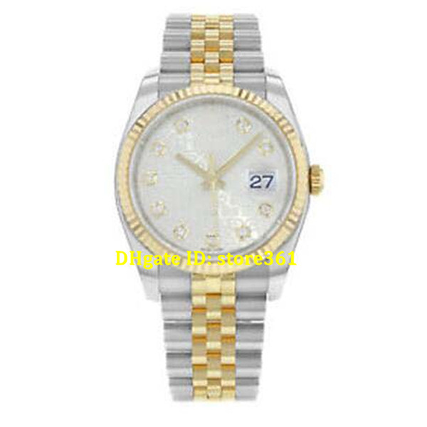 Christmas gift Luxury mens watches wristwatch Original box certificate 116233 Jubilee Diamond Dial 18K Yellow Gold 36mm Stainless Steel