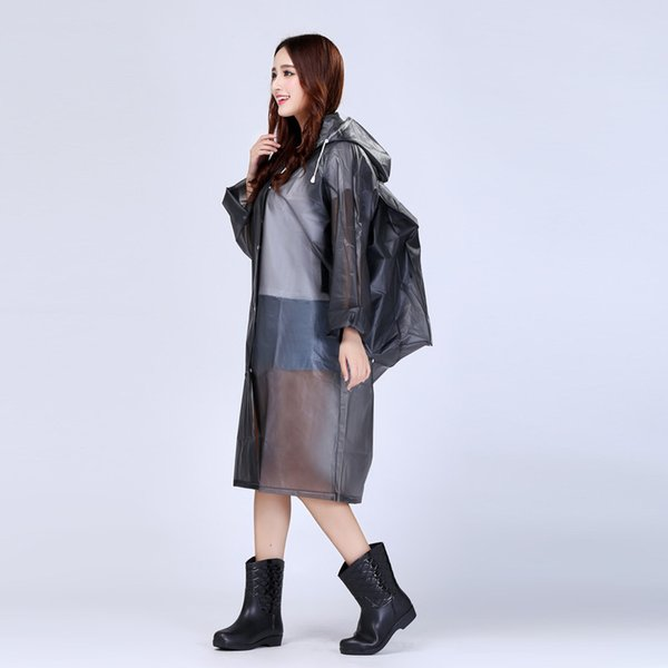 Women's Raincoats Fashion Transparent PVC With Hats For Outdoor Female Rain Coats Rainwears For Hiking Tour With Bag raincoat