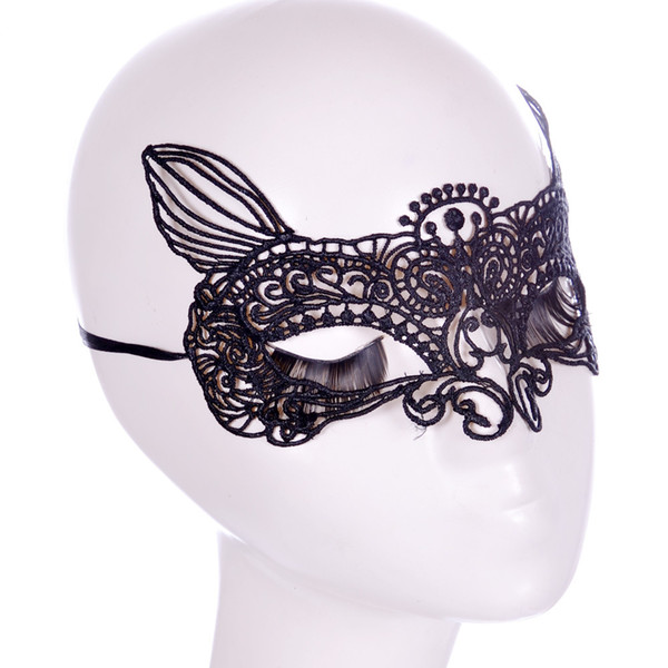 1Pcs Cat Lace Eye Mask Party Dress Ball Masquerade Masks Dance Anonymous Mask For Venetian Carnival Sexy Face MaskeCosplayMasque