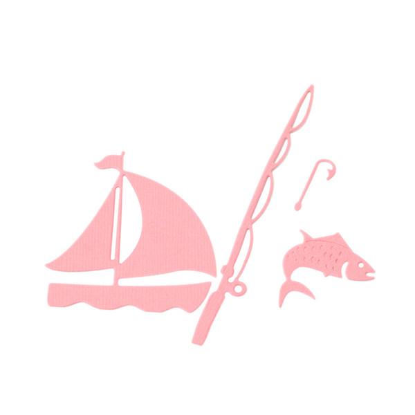 Estel Cutting Dies 6.8x6/1x13.5cm Fishing Metal Cutting Die Stencil for DIY Scrapbooking/photo album Embossing Card Dies