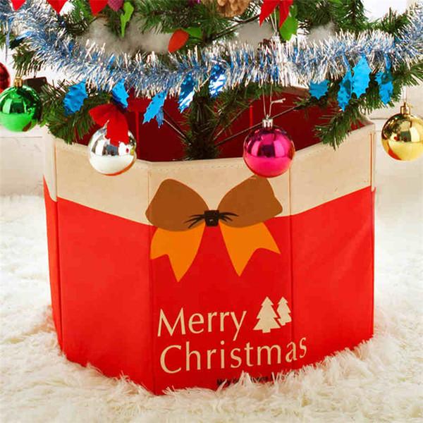 2018 New Christmas Tree Foot Box Ornaments Bottom Xmas Party