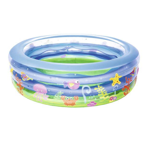 Dia 196cm Inflatable Summer Wave Crystal Pool Boys Girls Ground Water Toys Outdoor Fun Raft Boia Piscina