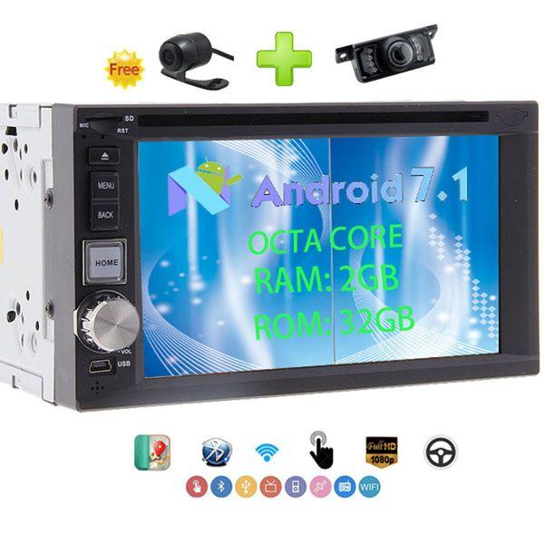 "Eincar Android Car Stereo 2 Din 6.2"" OCTA CORE 2GB RAM+ 32GB ROM HeadUnit car DVD Player GPS Navi,Bluetooth,Phone Link"