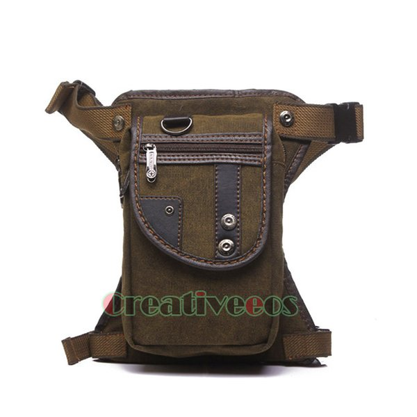 Men Canvas Travel Motorcycle Riding Messenger Crossbody Shoulder Belt Hip Bum Fanny Pack Waist Thigh Drop Leg Bag