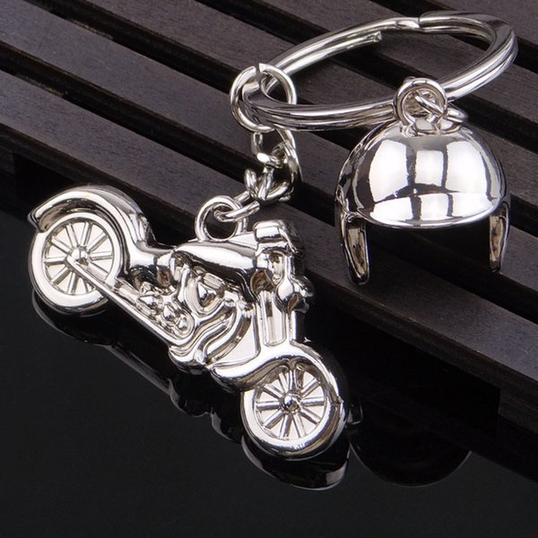 Harley Motorcycle Helmet Keychain Metal Simulation 3D Keychain Pendant Key Chain Gift Creative Keyrings Decor Support FBA Drop Shipping H66F