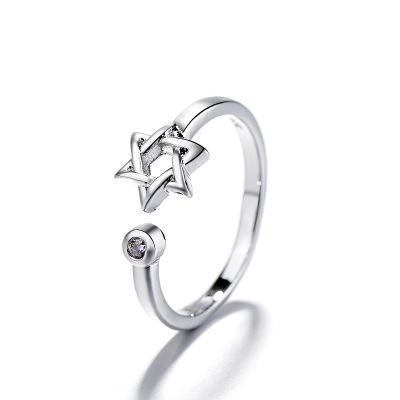 Donna vendita calda New Star Studded Ring Opening Girlfriends Little Finger Tail Anello Gioielli dito indice