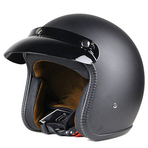 Jet Helmet Open Face Motorcycle Custom Scooter Matt Black many kinds of color to choose Z