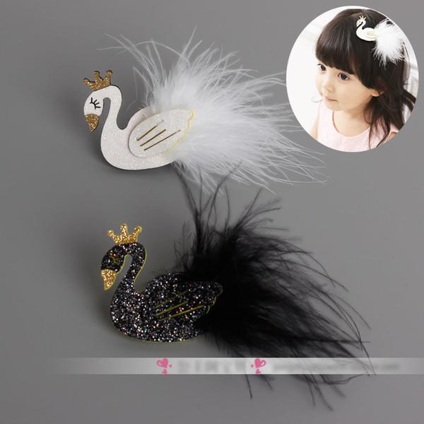 Schöne White Swan Hair Clips Performance Kind Haarschmuck Edle Kinder Stirnband Mädchen Zubehör