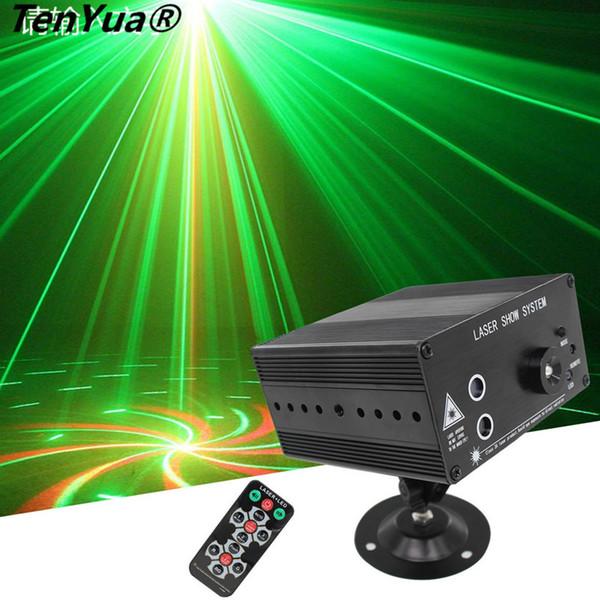 A todo color 48 patrones Rotación RGB LED Láser Proyector de iluminación escénica ROJO Verde Azul LED DJ KTV Disco Light Laser Show System