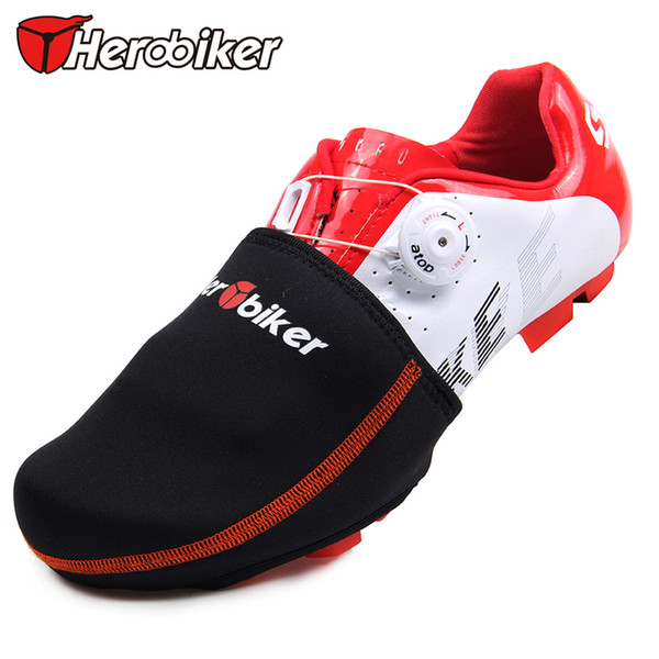 HEROBIKER Motorcycle Bicycle Protector Warmer Boot Cover Outdoor Sports Wear Bike Cycling Shoe Toe Cover Black 1 Pair