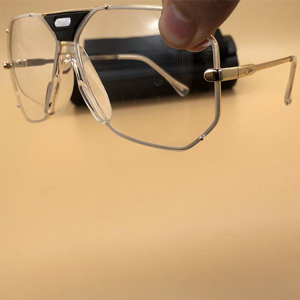 Gafas de sol transparentes del metal de la calidad superior del diseño de la calidad Gafas de la vendimia del marco del oro Gafas de sol de moda para las mujeres y los hombres con la caja 905