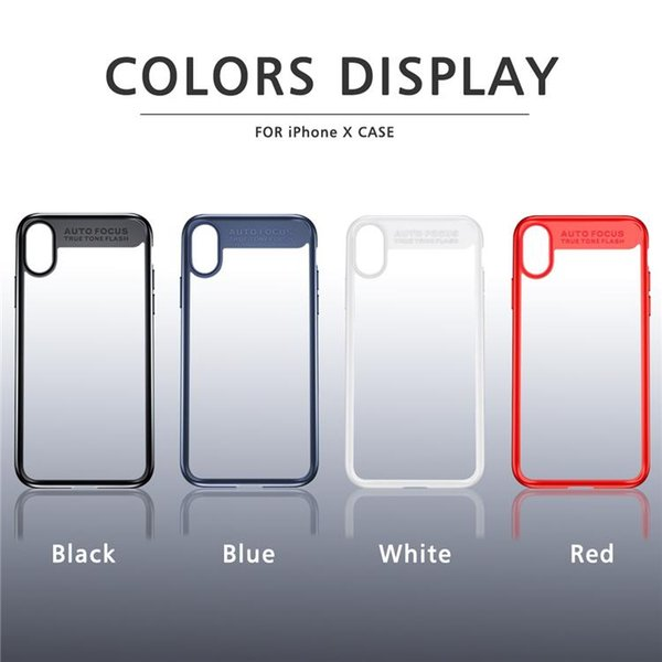 2018 For iphone X Case Hybrid Ultra-Thin Cases Back Cover Case TPU Clear Shockproof Case Phone Protector For iphone X 8 plus