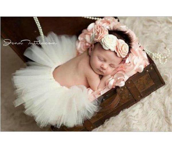Cute Newborn Toddler Baby Girl Tutu Skirt Headband Photo Prop Costume Outfit UK