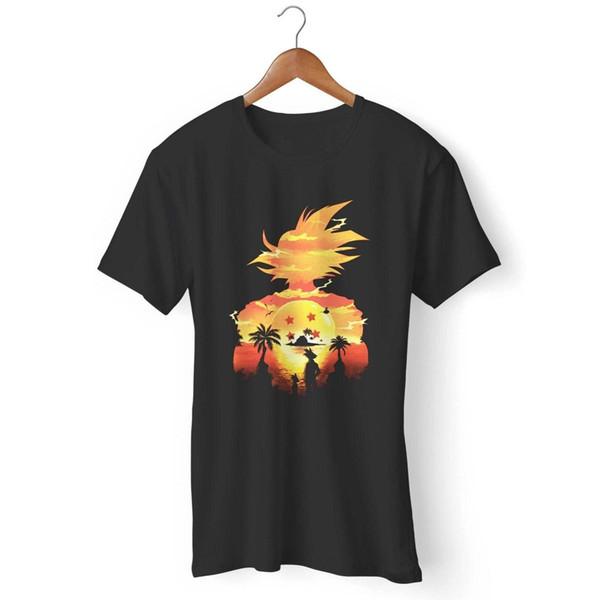 Hermosa Sunset Dragon Ball camiseta de hombre y mujer