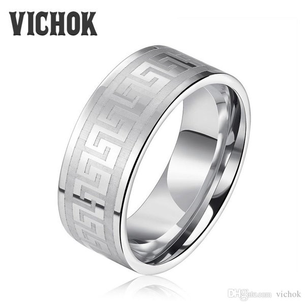 Retro Ring 316L Stainless Steel Punk Style Ring For Women Men Wedding Bands Ring bague black friday Fashion Jewelry Gift New Arrival VICHOK