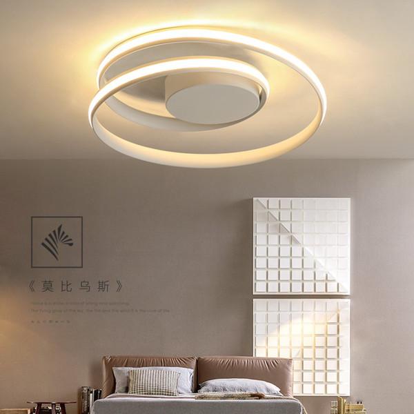 Großhandel Minimalismus Moderne LED Deckenleuchten Schwarz / Weiß Aluminium  Deckenleuchte Wohnzimmer Schlafzimmer Lamparas De Techo Colgante Modern ...