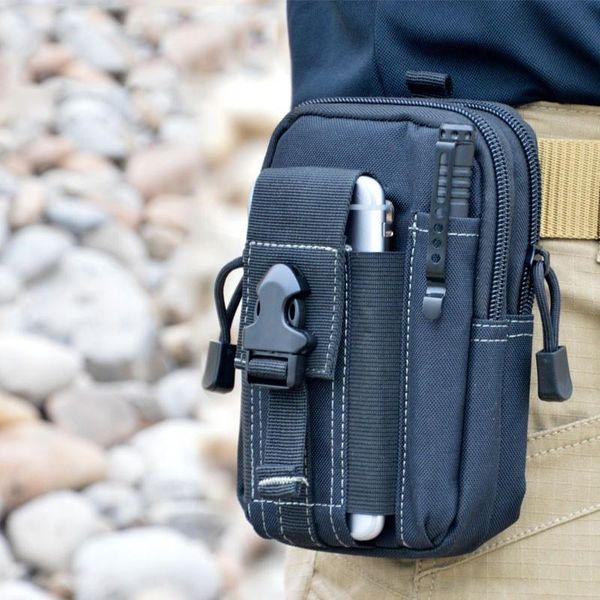 Cartera monedero funda de teléfono funda táctica al aire libre militar Molle cadera cintura cinturón bolsa con cremallera para teléfono móvil